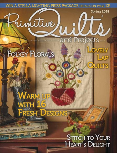 Primitive Quilts & Projects Cover - 3/1/2018