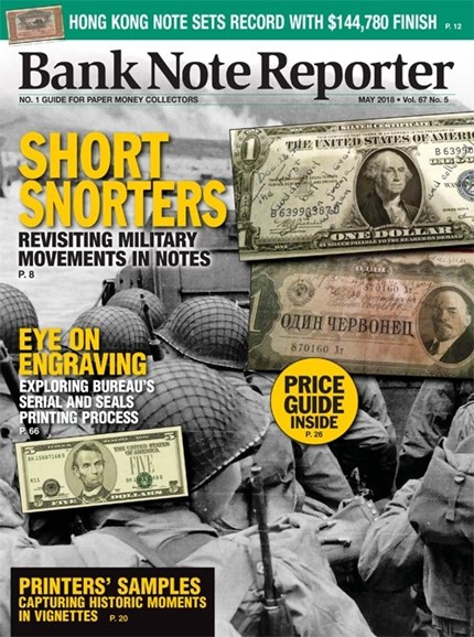 Bank Note Reporter Cover - 5/1/2018