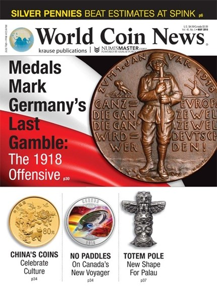 World Coin News Cover - 5/1/2018