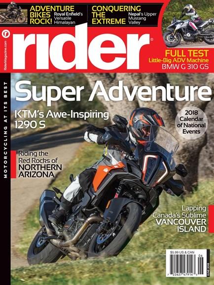 Rider Cover - 6/1/2018