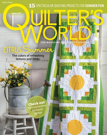 Quilter's World Cover - 6/1/2018
