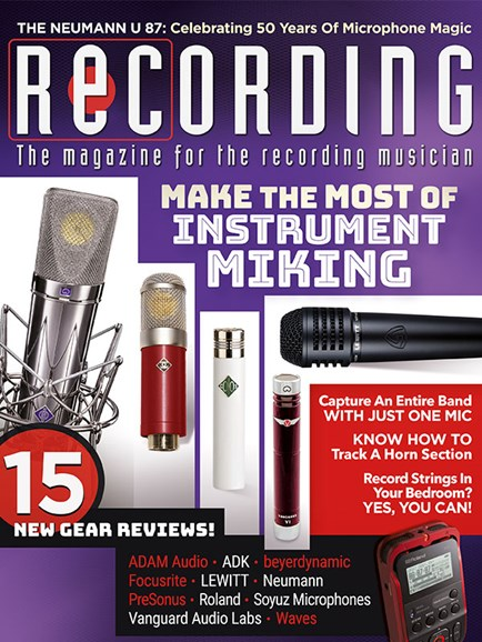 Recording Magazine Cover - 5/1/2018