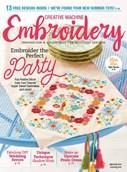 Creative Machine Embroidery   5/2018 Cover