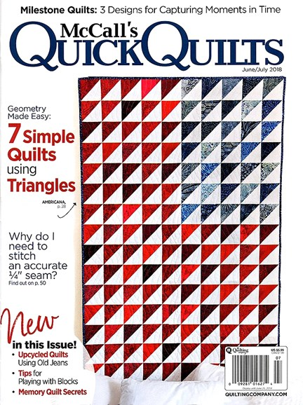 McCall's Quick Quilts Cover - 6/1/2018