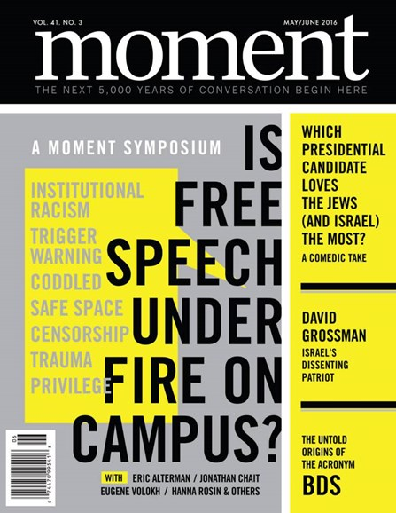 Moment Magazine Cover - 5/1/2016