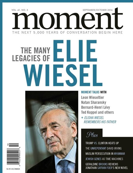 Moment Magazine Cover - 9/1/2016