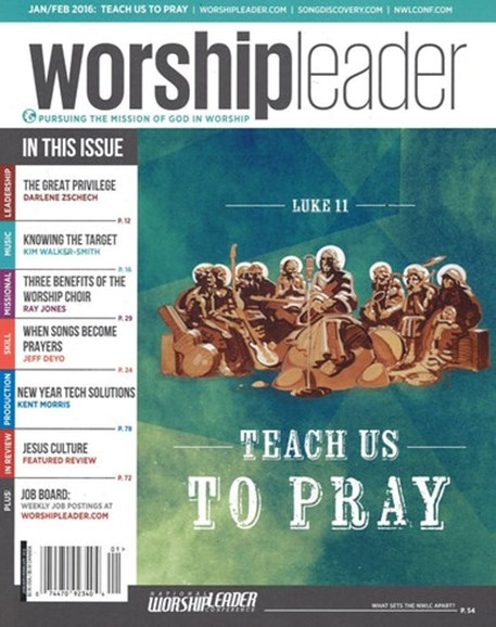 Worship Leader Magazine Cover - 1/1/2016
