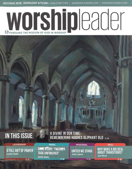Worship Leader Magazine Cover - 7/1/2016