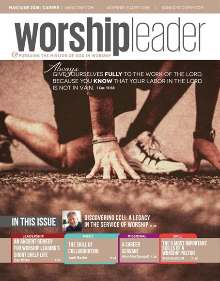 Worship Leader Magazine Cover - 5/1/2016