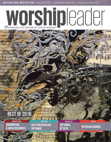 Worship Leader Magazine Cover - 11/1/2016