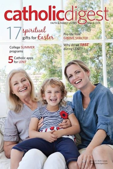 Catholic Digest Cover - 3/1/2014