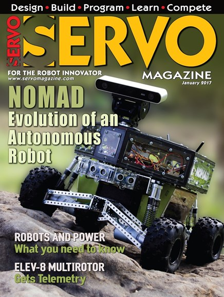 Servo Magazine Cover - 1/1/2017