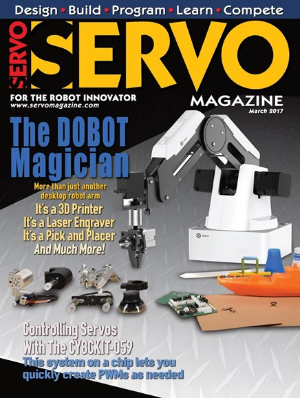 Servo Magazine Cover - 3/1/2017