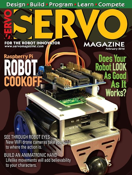 Servo Magazine Cover - 2/1/2016