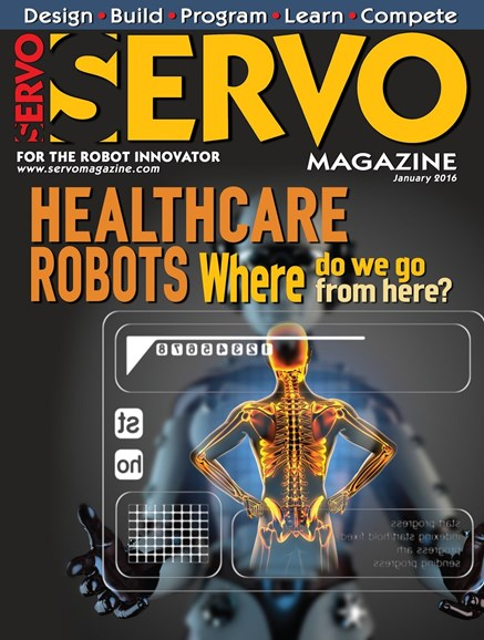 Servo Magazine Cover - 1/1/2016