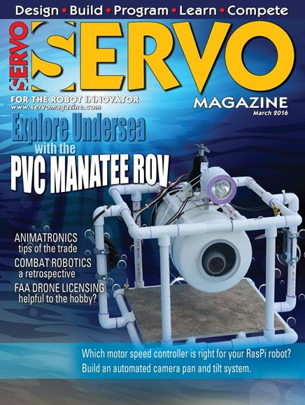 Servo Magazine Cover - 3/1/2016