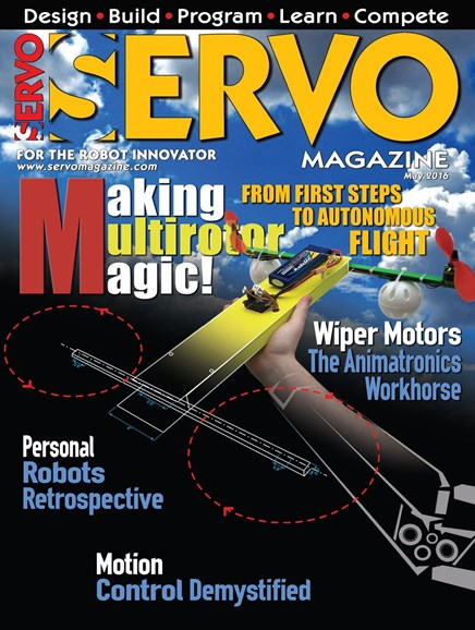 Servo Magazine Cover - 5/1/2016