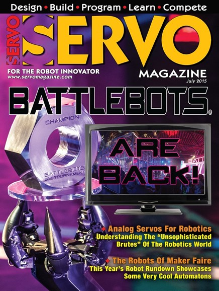 Servo Magazine Cover - 7/1/2015