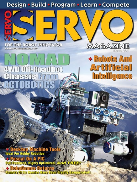 Servo Magazine Cover - 3/1/2015