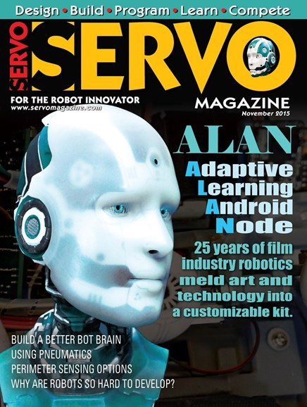 Servo Magazine Cover - 11/1/2015