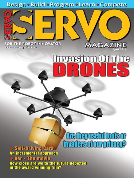 Servo Magazine Cover - 4/1/2014