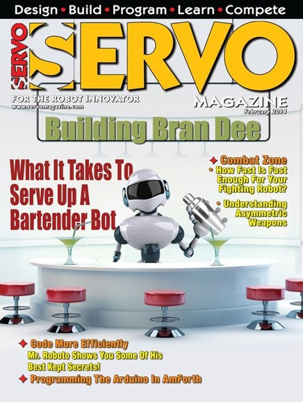 Servo Magazine Cover - 2/1/2014