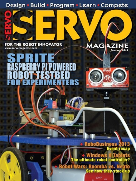 Servo Magazine Cover - 1/1/2014
