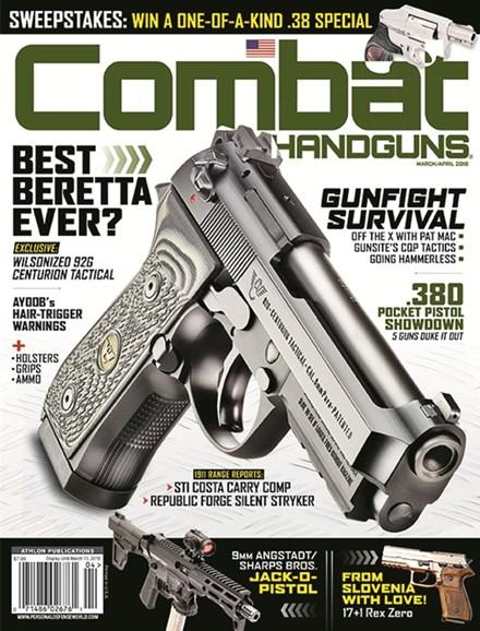 Combat Handguns Cover - 3/1/2018