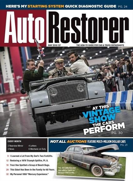 Auto Restorer Cover - 5/1/2018