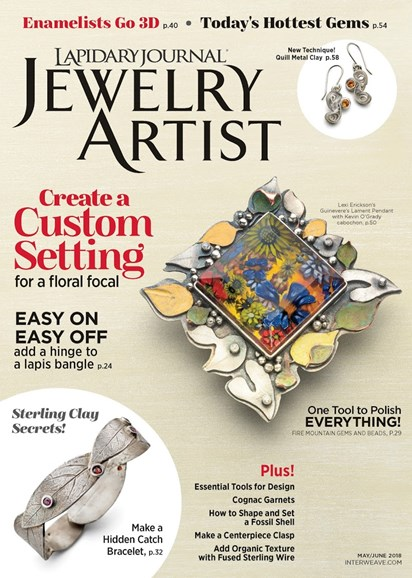 Lapidary Journal Jewelry Artist Cover - 5/1/2018
