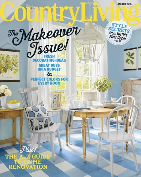 Country Living Cover - 3/1/2016