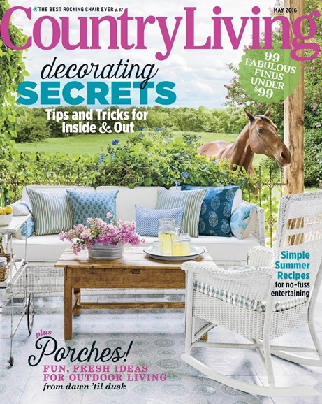 Country Living Cover - 5/1/2016