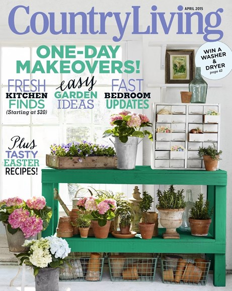 Country Living Cover - 4/1/2015