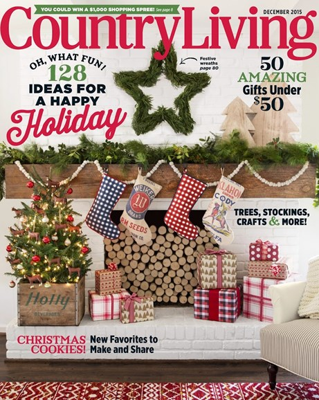 Country Living Cover - 12/1/2015