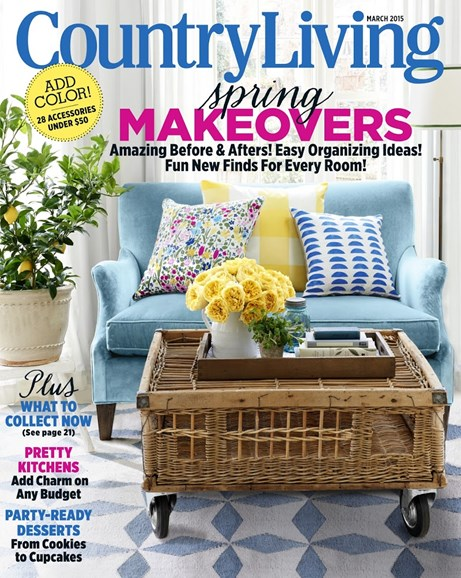 Country Living Cover - 3/1/2015
