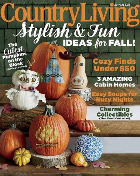 Country Living Cover - 10/1/2015
