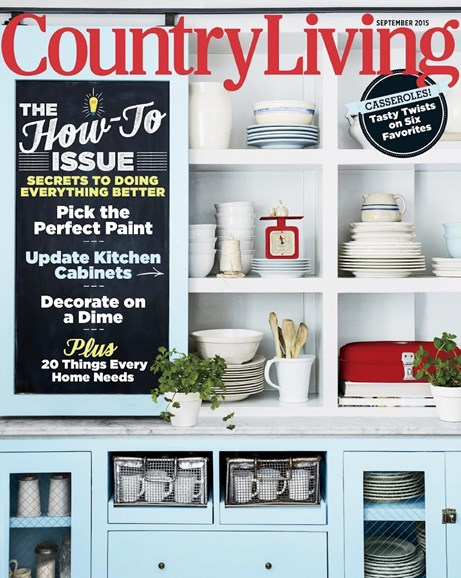 Country Living Cover - 9/1/2015