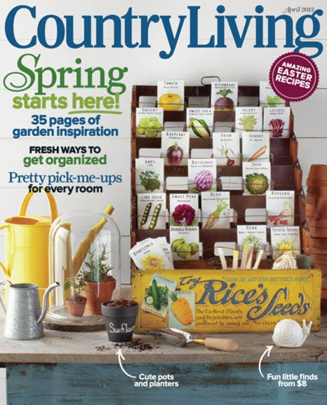 Country Living Cover - 4/1/2013
