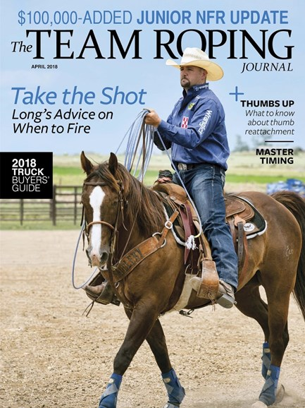 The Team Roping Journal Cover - 4/1/2018