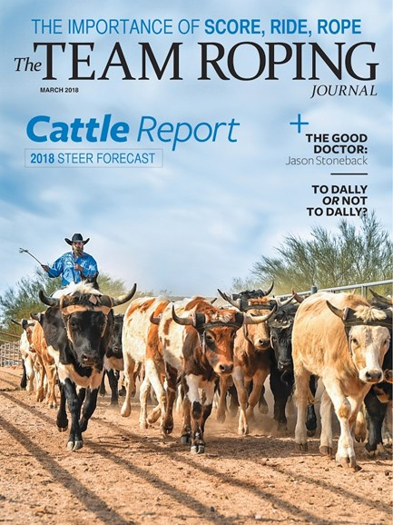 The Team Roping Journal Cover - 3/1/2018