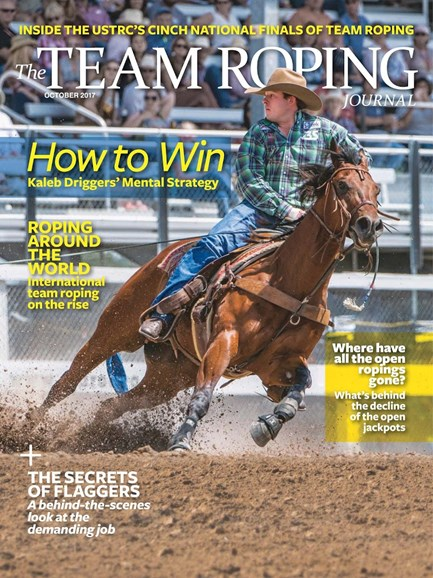 The Team Roping Journal Cover - 10/1/2017