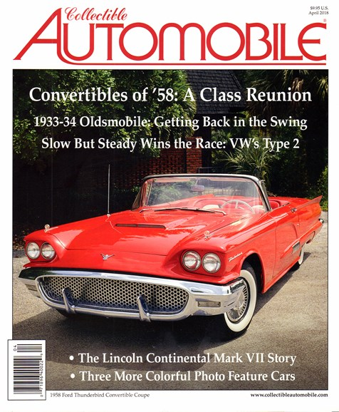 Collectible Automobile Cover - 4/1/2018