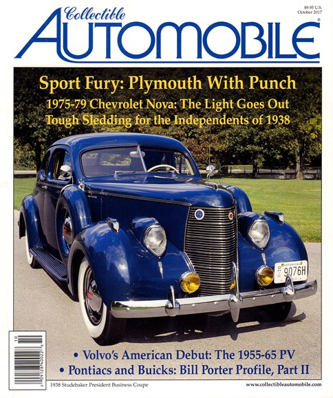 Collectible Automobile Cover - 10/1/2017
