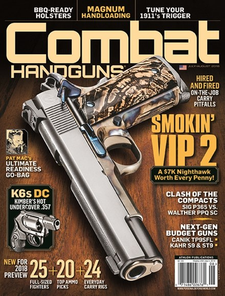 Combat Handguns Cover - 7/1/2018