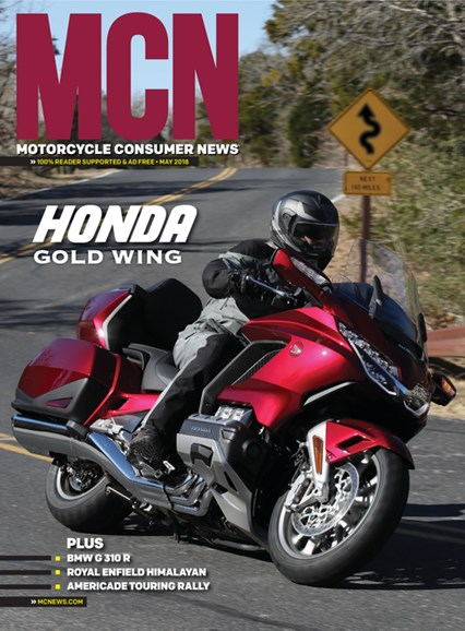 Motorcycle Consumer News Cover - 5/1/2018