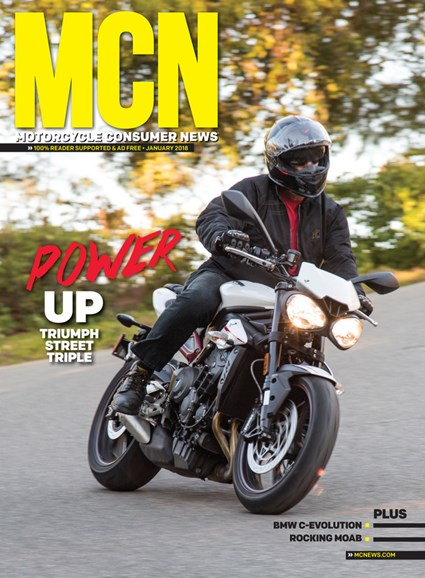 Motorcycle Consumer News Cover - 1/1/2018