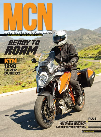 Motorcycle Consumer News Cover - 4/1/2017
