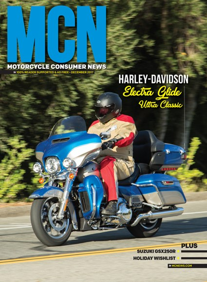 Motorcycle Consumer News Cover - 12/1/2017