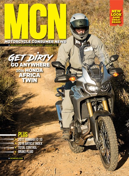 Motorcycle Consumer News Cover - 1/1/2017