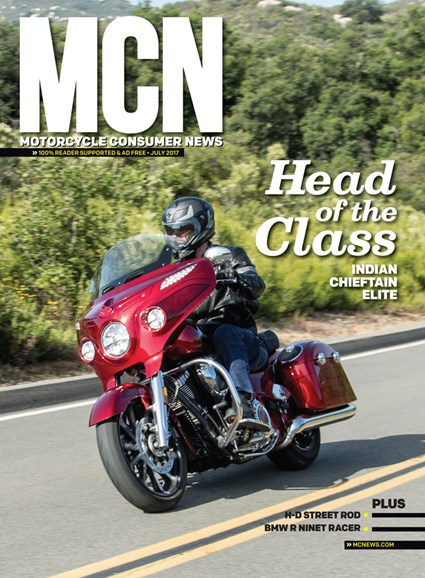 Motorcycle Consumer News Cover - 7/1/2017